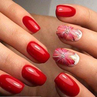 Дизайн ногтей 2018 фото новинки красные