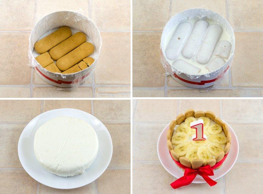 Как сделать ребенку торт на год своими  55