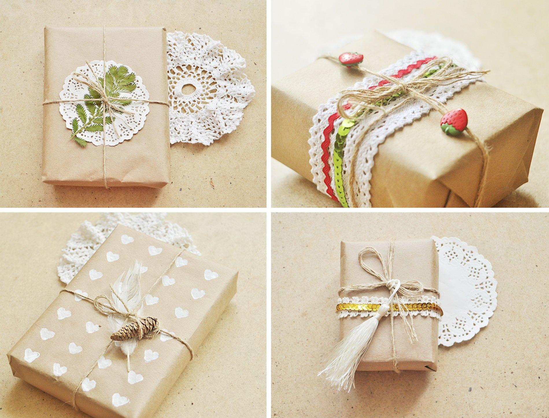 Как оформить подарок своими р