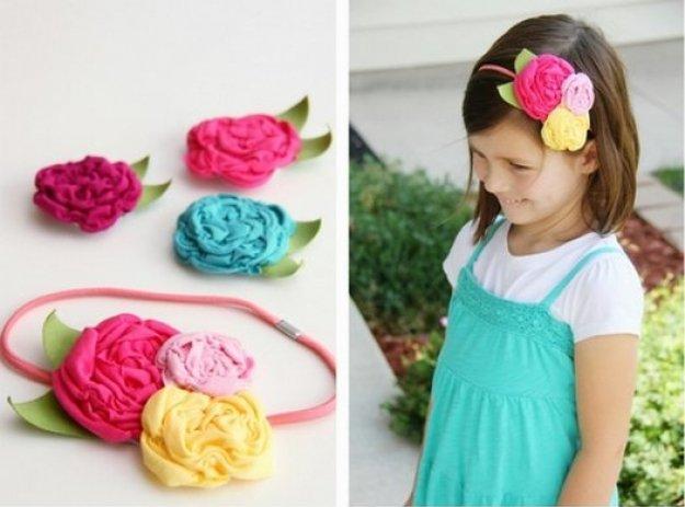 Цветы из ткани как сделать для шапки