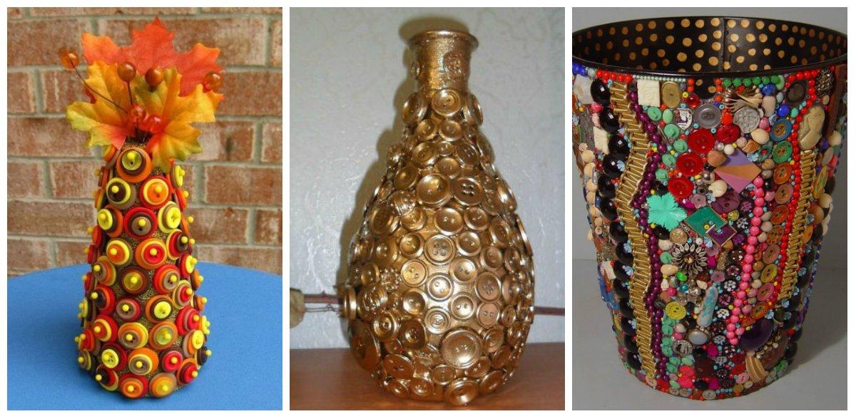 Как оформить вазу своими руками из подручных материалов 44