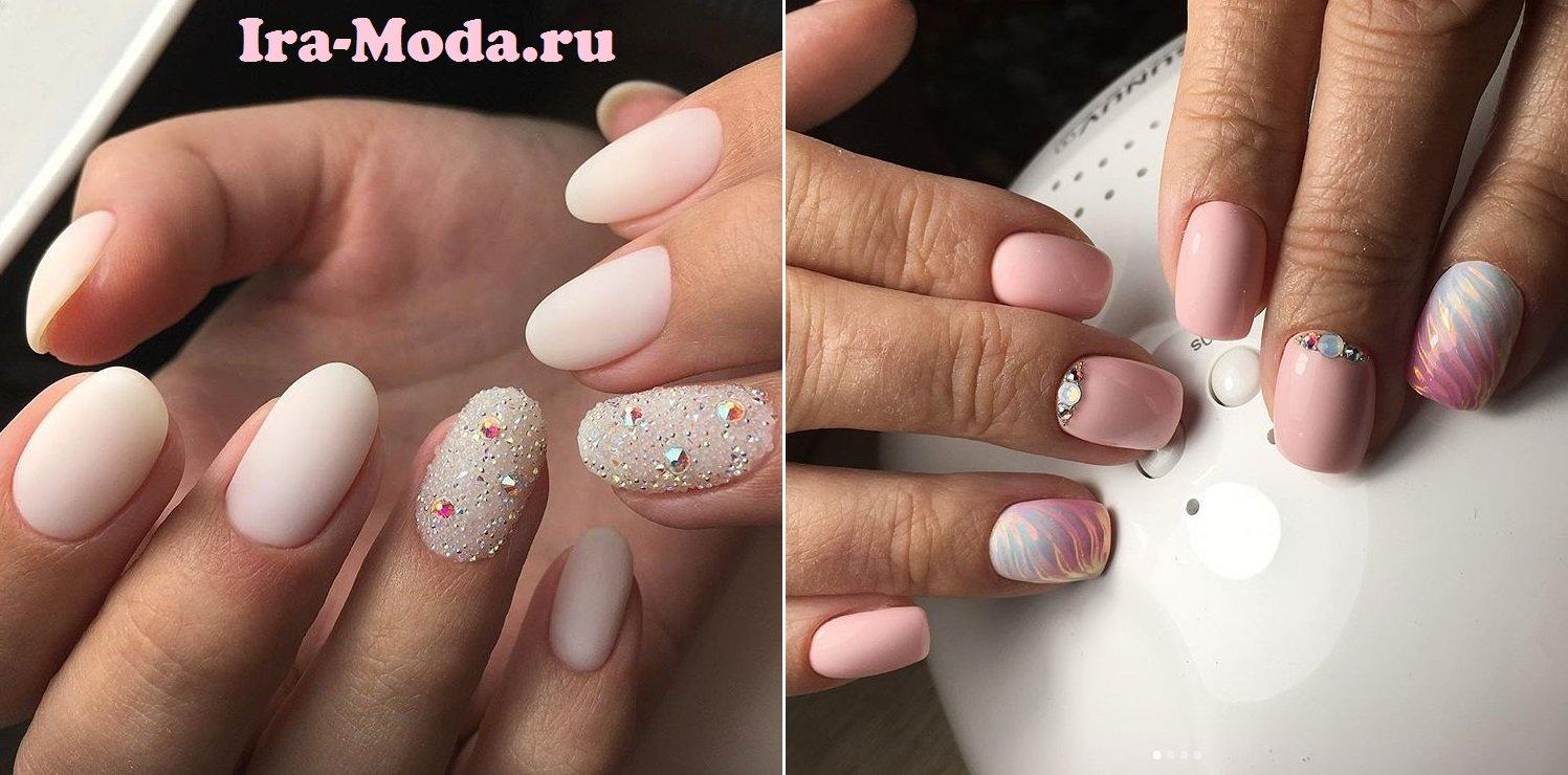 Дизайн ногтей с бульонками фото с френчами